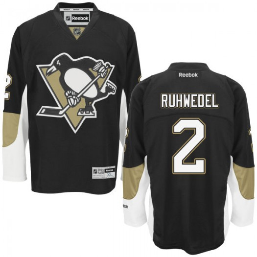 Chad Ruhwedel Pittsburgh Penguins Men's Reebok Authentic Black Home Jersey