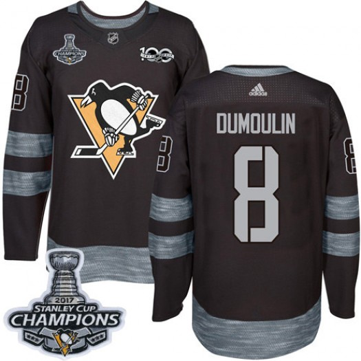 Brian Dumoulin Pittsburgh Penguins Men's Adidas Premier Black 1917-2017 100th Anniversary 2017 Stanley Cup Final Jersey