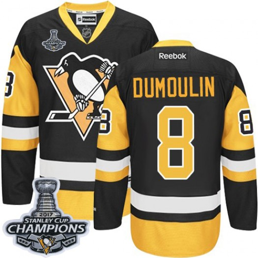 Brian Dumoulin Pittsburgh Penguins Men's Reebok Authentic Black/Gold Third 2017 Stanley Cup Final Jersey