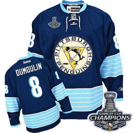 Brian Dumoulin Pittsburgh Penguins Men's Reebok Authentic Navy Blue Third Vintage 2017 Stanley Cup Final Jersey