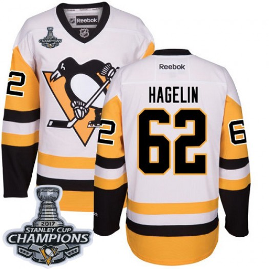 Carl Hagelin Pittsburgh Penguins Men's Reebok Authentic White Away 2017 Stanley Cup Final Jersey