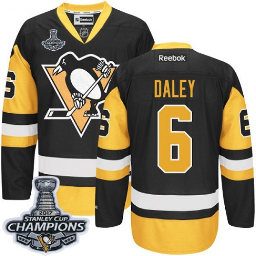 Trevor Daley Pittsburgh Penguins Men's Reebok Authentic Black/Gold Third 2017 Stanley Cup Final Jersey