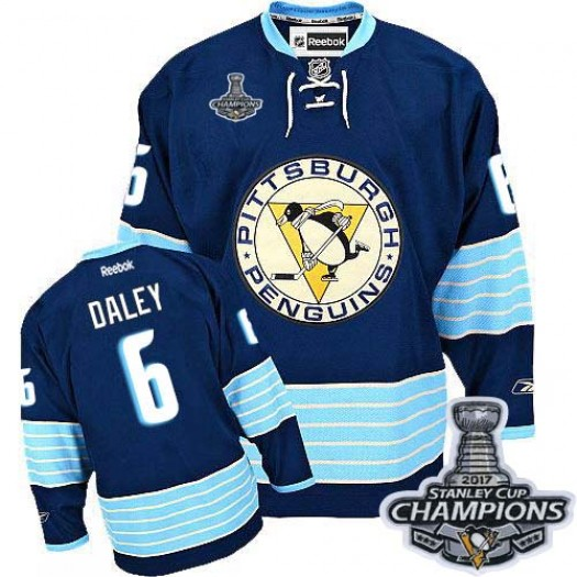 Trevor Daley Pittsburgh Penguins Men's Reebok Authentic Navy Blue Third Vintage 2017 Stanley Cup Final Jersey