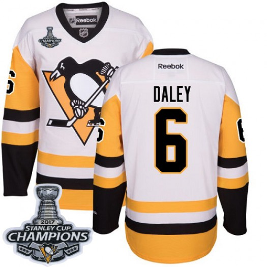 Trevor Daley Pittsburgh Penguins Men's Reebok Authentic White Away 2017 Stanley Cup Final Jersey