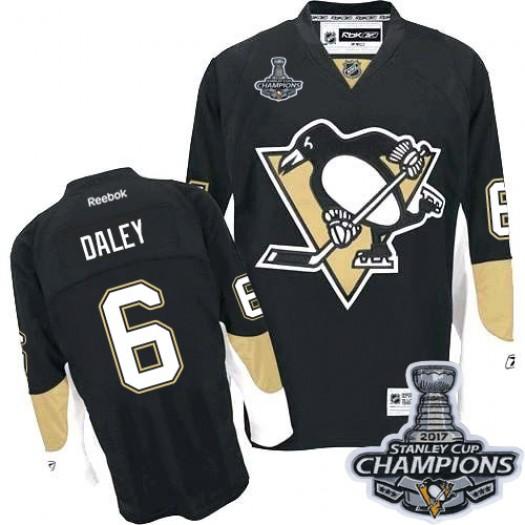 Trevor Daley Pittsburgh Penguins Men's Reebok Premier Black Home 2017 Stanley Cup Final Jersey