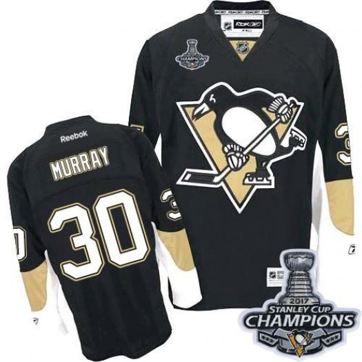 Matt Murray Pittsburgh Penguins Men's Reebok Premier Black Home 2017 Stanley Cup Champions Jersey